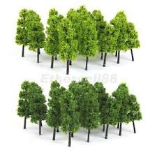 20 light green tree model railway forest wargame