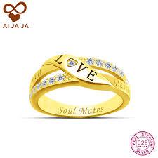 wedding ring names aijaja 925 sterling silver symbol wedding rings personalized