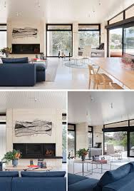 rammed earth and timber feature throughout this australian house