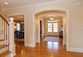 traditional entryway with doors transom window in asbury