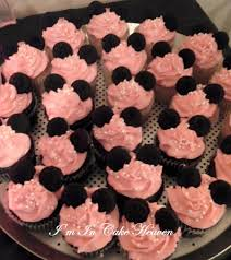 minnie mouse cupcakes minnie mouse cupcakes pink buttercream icing pearl candies amp