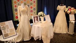 display wedding dress antique wedding dress and quilt display castle farms
