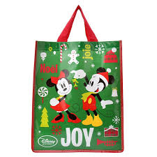 christmas shopping bags disney store mickey minnie christmas shopping bag reusable bag