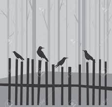 holloween background halloween background with ravens on fence royalty free cliparts