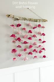 boho flower wall hanging made from egg cartons wall hanging