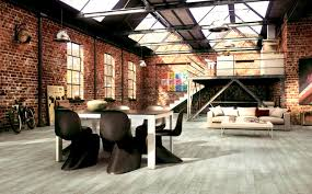 apartments agreeable industrial home warm hues design interior