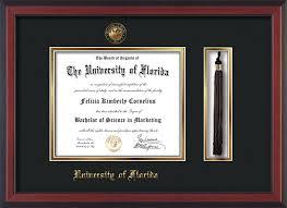 graduation frames with tassel holder of florida diploma frame c tassel blue on orange