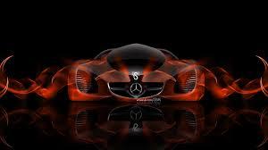 orange mercedes mercedes benz biome fantasy abstract car 2014 el tony