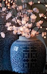pre lit branches pre lit white plum nouveau branch single stem 60 led s 20 inch