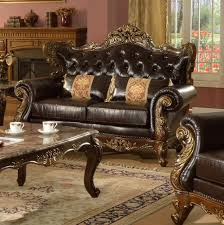Traditional Sofas Living Room Furniture by Traditional Sofa In Bonded Leather W Optional Items