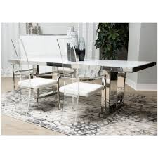 michael amini dining table michael amini state st rectangular dining table set