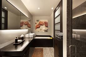 brilliant marvelous brown accents wall painted for bathroom ideas