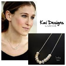 Carrie Necklace Gold Carrie Bradshaw Necklace Diamond Crystal Gold Necklace In