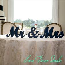 mr mrs sign for wedding table mr mrs sign mr mrs wedding table signs for sweetheart table decor