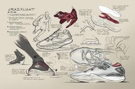 drawn shoe design sketch basketball pencil and in color drawn
