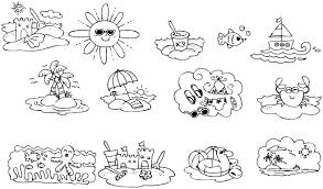 sunny day flowers play coloring page for kids summer pages