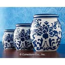 blue and white kitchen canisters blue and white canisters blue white happiness jar