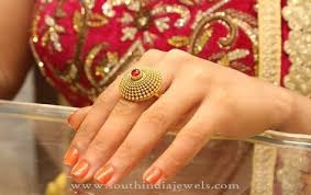 big rings designs images Gold bridal ring design indian jewellery pinterest rings jpg