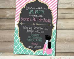 spa party printables etsy