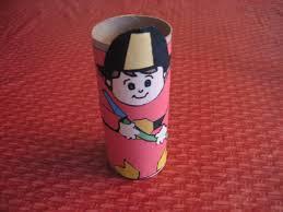 toilet paper tube fireman craft kiddie crafts 365 blog