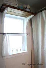 Bathroom Window Curtain by The Virginia House Shelf Over Window Extra Storage Privy