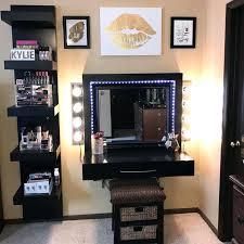 black vanity set with lights beautiful makeup vanity table with lights and black vanity table