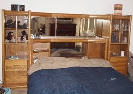 King Headboard With Storage 449 Oak Bed Set King Size For Sale In Fallbrook California King