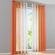 rideau de fenetre de chambre 2pcs rideau voilage lxh 140x225cm dégradé de couleur orange