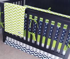Chevron Boy Crib Bedding Baby Boy Crib Bedding Set Green Gray Navy Blue Nursery