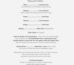 Funeral Ceremony Program Funeral Outline Images Reverse Search