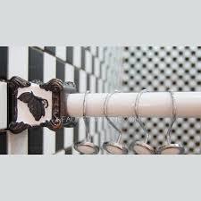 Inch Shower Curtain Rod - butterfly pattern flexible 47 2 78 7 inch shower curtain rod no