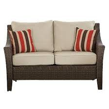 What Is At Cushion Loveseat Rolston Wicker Patio Loveseat Threshold Target
