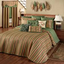 riverpark striped quilted oversized bedspread