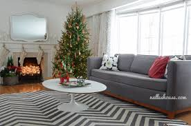 Christmas Living Room by Nalle U0027s House Christmas House Tour Dining And Living Room