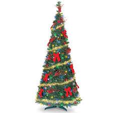 the cordless prelit pop up tree 6 hammacher schlemmer