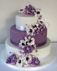 cascade of purple and white icing blossom flowers art u0027n icing