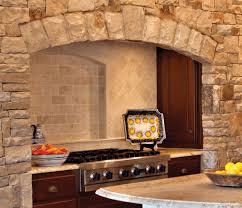 stone kitchen backsplash ideas brown cultured marble countertop