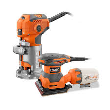ridgid 5 5 amp trim router with free 1 4 sheet sander r24011 the