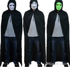Halloween Costumes Halloween Costumes Mens Long Black Death Cloak Masquerade