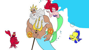 the little mermaid coloring page 7 little hands coloring book
