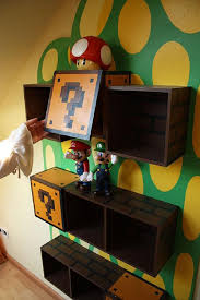 themed shelves mario bros furniture is the wildest concept walyou