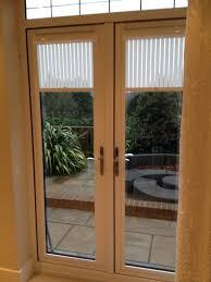 Patio Door Frames Sliding Glass Door With White Tone Frame And Inside Venetian