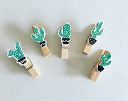 Desk Clips Succulents Cactus Etsy