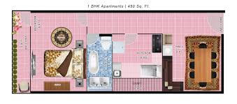 600 sq ft apartment floor plan 2 bhk 600 sq ft apartment for sale in habitech group habitech