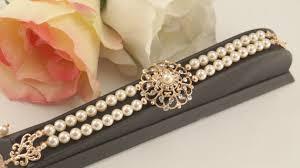 bridal rose gold bracelet vintage inspired art deco swarovski
