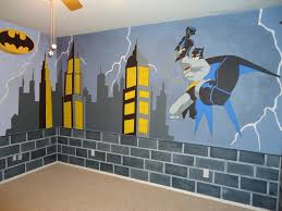 hand crafted batman mural by kid murals by dana custommade com