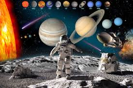astronaut in solar system wallpaper wall mural muralswallpaper co uk