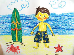 painting summer for kids how to draw tutorial beach sunset and
