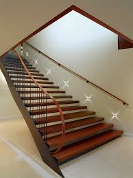 stairwell lighting staircase modern with banister cabin chandelier