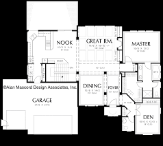 House Plans For Sloping Lots Mascord House Plan 1201gd The Arlington